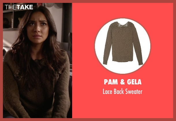 Pam & Gela green sweater from Pretty Little Liars seen with Emily Fields (Shay Mitchell)