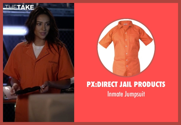 Px:Direct Jail Products jumpsuit from Pretty Little Liars seen with Emily Fields (Shay Mitchell)