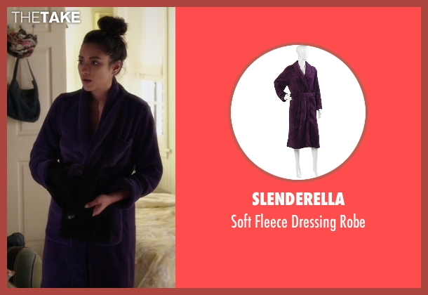 Slenderella purple robe from Pretty Little Liars seen with Emily Fields (Shay Mitchell)