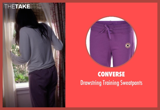 Converse purple sweatpants from Pretty Little Liars seen with Emily Fields (Shay Mitchell)
