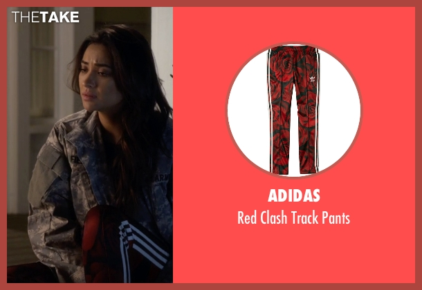 Adidas red pants from Pretty Little Liars seen with Emily Fields (Shay Mitchell)