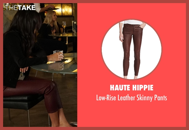 Haute Hippie red pants from Pretty Little Liars seen with Emily Fields (Shay Mitchell)