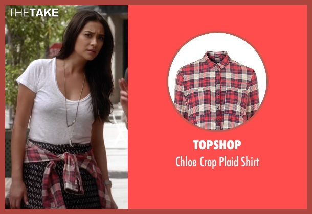 Topshop red shirt from Pretty Little Liars seen with Emily Fields (Shay Mitchell)