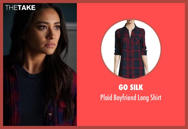 Go Silk red shirt from Pretty Little Liars seen with Emily Fields (Shay Mitchell)