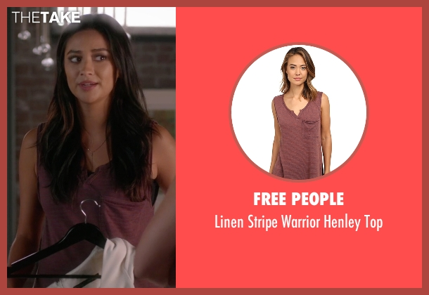 Free People red top from Pretty Little Liars seen with Emily Fields (Shay Mitchell)