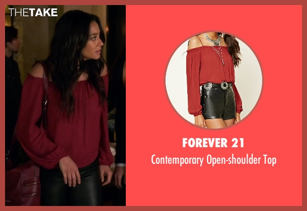 Forever 21 red top from Pretty Little Liars seen with Emily Fields (Shay Mitchell)