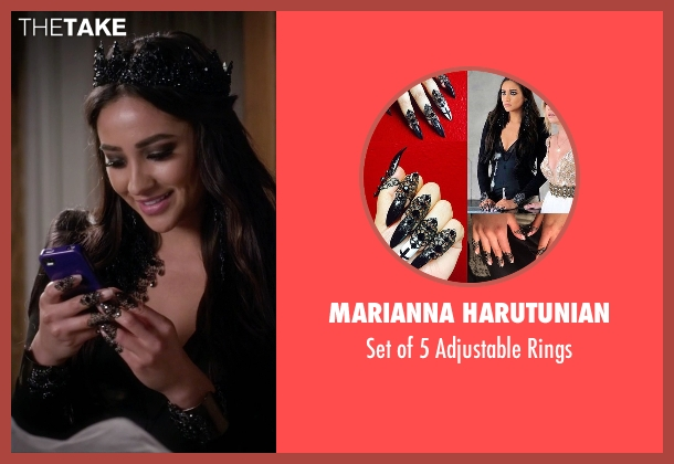 Marianna Harutunian rings from Pretty Little Liars seen with Emily Fields (Shay Mitchell)