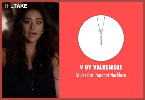 V By Valkeniers silver necklace from Pretty Little Liars seen with Emily Fields (Shay Mitchell)