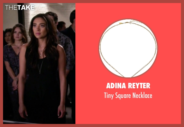 Adina Reyter silver necklace from Pretty Little Liars seen with Emily Fields (Shay Mitchell)