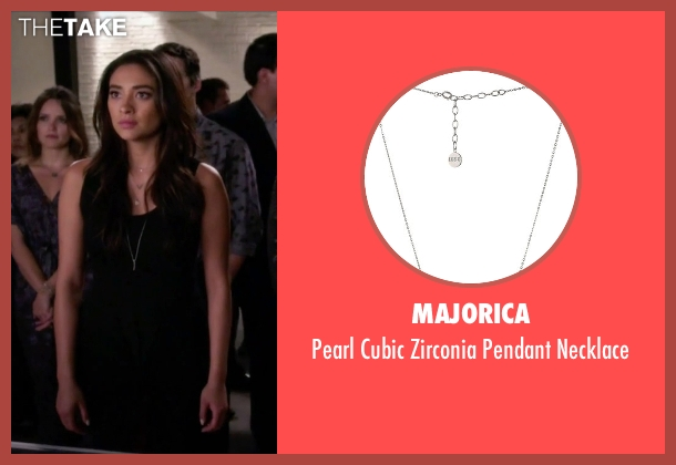 Majorica silver necklace from Pretty Little Liars seen with Emily Fields (Shay Mitchell)