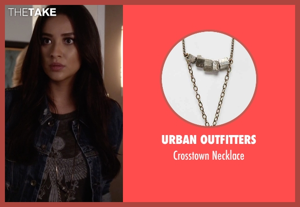 Urban Outfitters silver necklace from Pretty Little Liars seen with Emily Fields (Shay Mitchell)