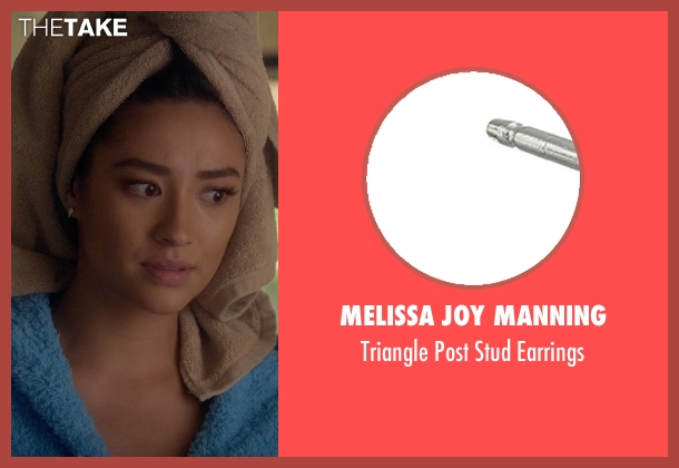 Melissa Joy Manning white earrings from Pretty Little Liars seen with Emily Fields (Shay Mitchell)