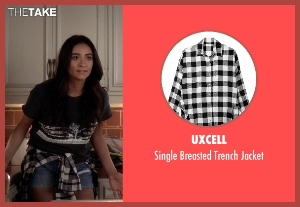 Uxcell white jacket from Pretty Little Liars seen with Emily Fields (Shay Mitchell)