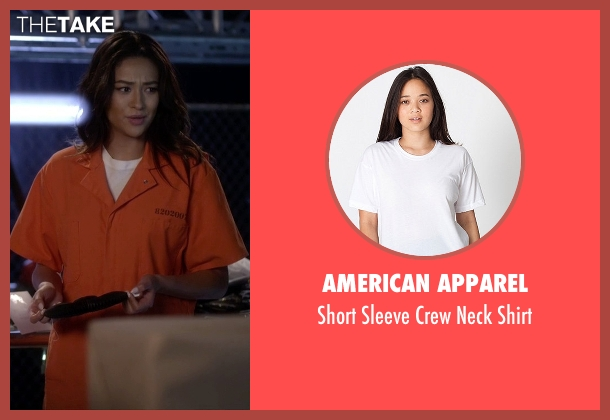 American Apparel white shirt from Pretty Little Liars seen with Emily Fields (Shay Mitchell)