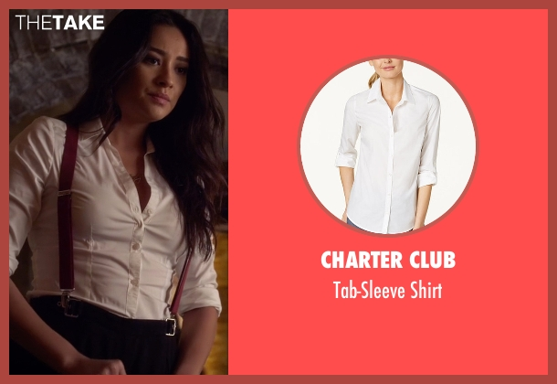 Charter Club white shirt from Pretty Little Liars seen with Emily Fields (Shay Mitchell)