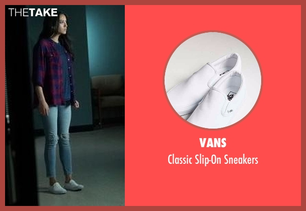 Vans white slip-on sneakers from Pretty Little Liars seen with Emily Fields (Shay Mitchell)