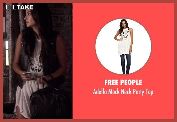 Free People  white top from Pretty Little Liars seen with Emily Fields (Shay Mitchell)