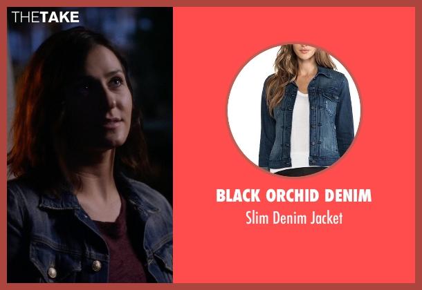 Black Orchid Denim blue jacket from Nashville seen with Emily Hobbs (Kourtney Hansen)