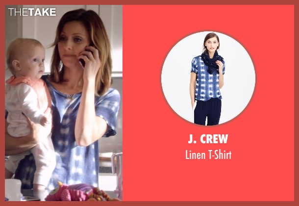 J. Crew blue t-shirt from Nashville seen with Emily Hobbs (Kourtney Hansen)
