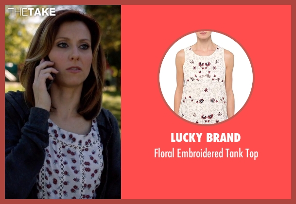 Lucky Brand white top from Nashville seen with Emily Hobbs (Kourtney Hansen)