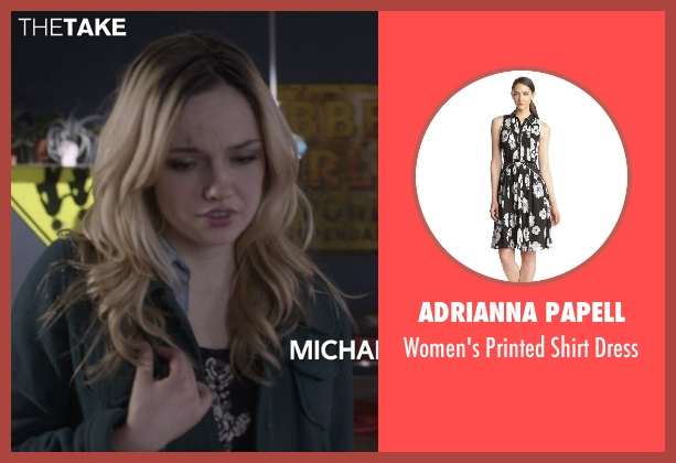 Adrianna Papell black dress from That Awkward Moment seen with Emily Meade (Christy)
