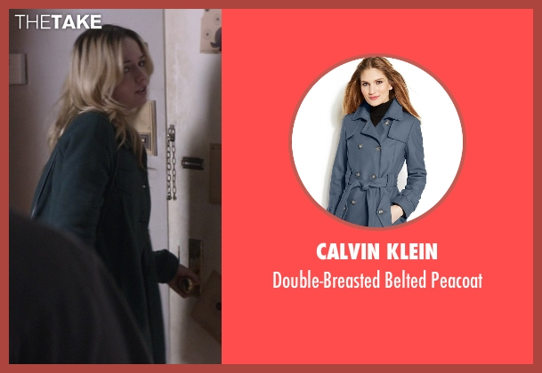 Calvin Klein blue peacoat from That Awkward Moment seen with Emily Meade (Christy)