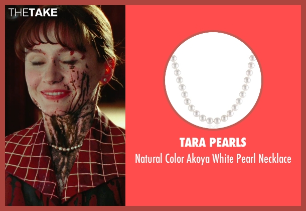 Tara Pearls white necklace from Shutter Island seen with Emily Mortimer (Rachel 1)