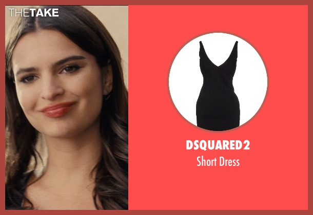 Dsquared2 black dress from Entourage seen with Emily Ratajkowski (Unknown Character)