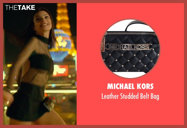 Michael Kors black bag from We Are Your Friends seen with Emily Ratajkowski (Sophie)