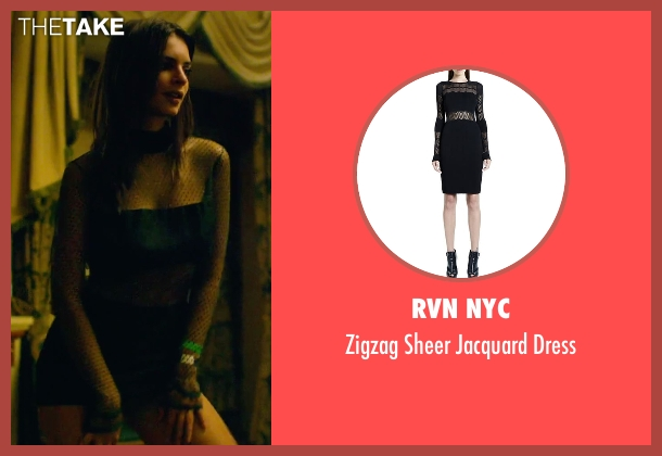 RVN NYC black dress from We Are Your Friends seen with Emily Ratajkowski (Sophie)