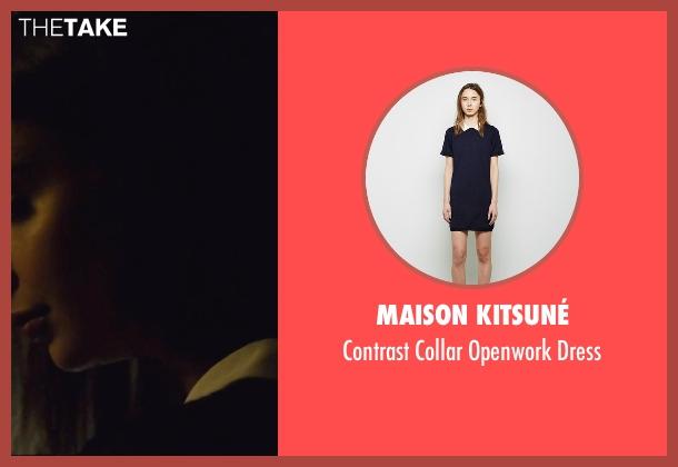 Maison Kitsuné blue dress from We Are Your Friends seen with Emily Ratajkowski (Sophie)