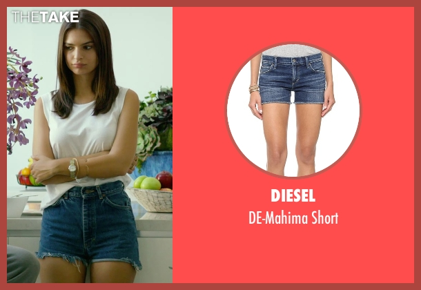Diesel blue short from We Are Your Friends seen with Emily Ratajkowski (Sophie)