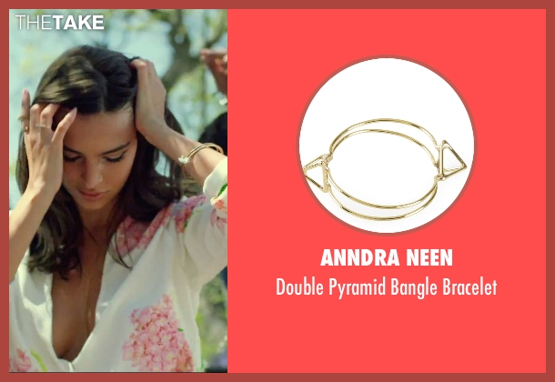Anndra Neen gold bracelet from We Are Your Friends seen with Emily Ratajkowski (Sophie)