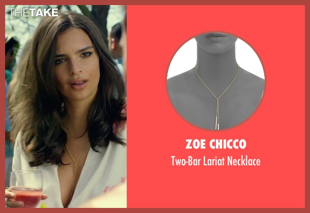 Zoe Chicco gold necklace from We Are Your Friends seen with Emily Ratajkowski (Sophie)