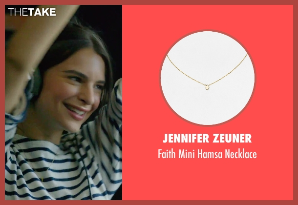 Jennifer Zeuner gold necklace from We Are Your Friends seen with Emily Ratajkowski (Sophie)