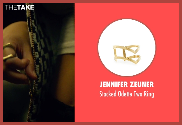 Jennifer Zeuner gold ring from We Are Your Friends seen with Emily Ratajkowski (Sophie)