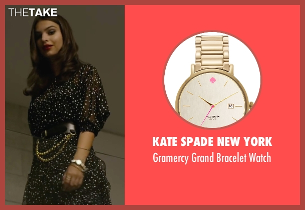 Kate Spade New York gold watch from We Are Your Friends seen with Emily Ratajkowski (Sophie)