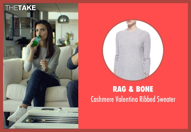Rag & Bone gray sweater from We Are Your Friends seen with Emily Ratajkowski (Sophie)