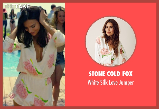 Stone Cold Fox white jumper from We Are Your Friends seen with Emily Ratajkowski (Sophie)