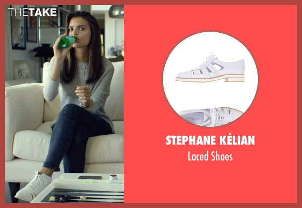 Stephane Kélian white shoes from We Are Your Friends seen with Emily Ratajkowski (Sophie)