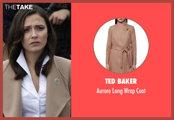 Ted Baker beige coat from Designated Survivor seen with Emily Rhodes (Italia Ricci)