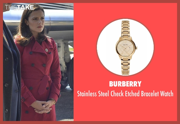Burberry gold watch from Designated Survivor seen with Emily Rhodes (Italia Ricci)