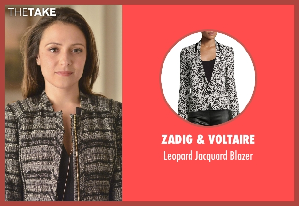 Zadig & Voltaire  gray blazer from Designated Survivor seen with Emily Rhodes (Italia Ricci)