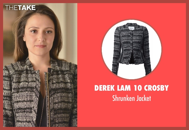 Derek Lam 10 Crosby gray jacket from Designated Survivor seen with Emily Rhodes (Italia Ricci)
