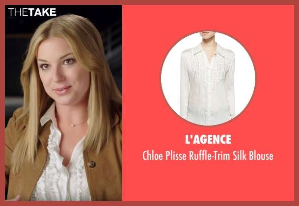 L'agence white blouse from Captain America: Civil War seen with Emily VanCamp (Sharon Carter)