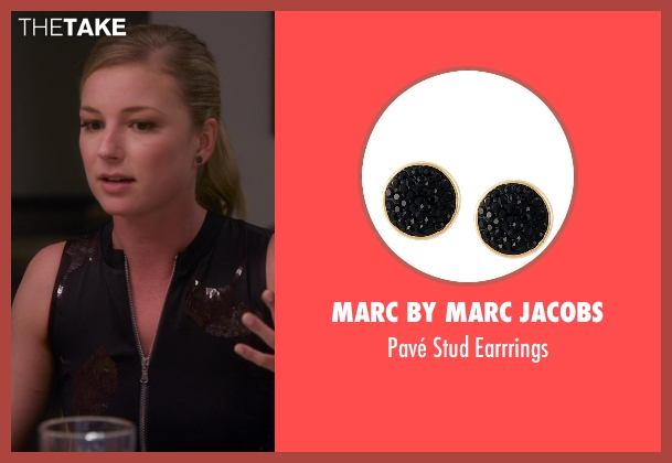 Marc By Marc Jacobs black earrrings from Chelsea seen with Emily VanCamp