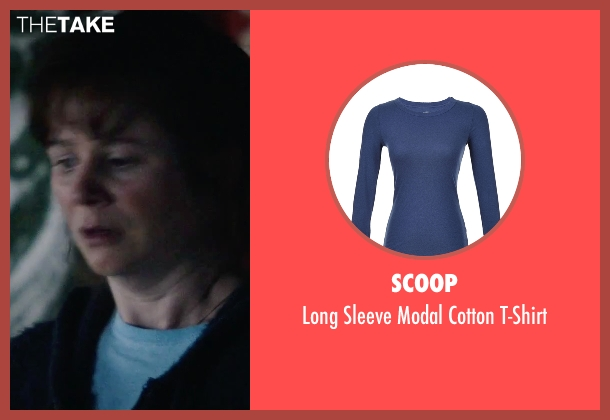 Scoop blue t-shirt from Everest seen with Emily Watson (Helen Wilton)