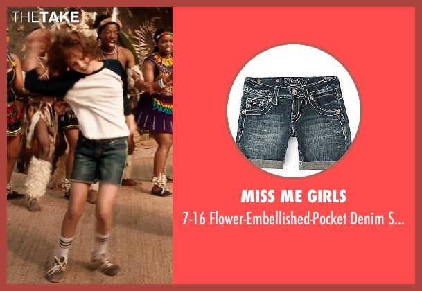 Miss Me Girls blue shorts from Blended seen with Emma Fuhrmann (Espn Friedman)