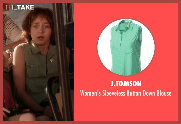 J.TOMSON green blouse from Blended seen with Emma Fuhrmann (Espn Friedman)