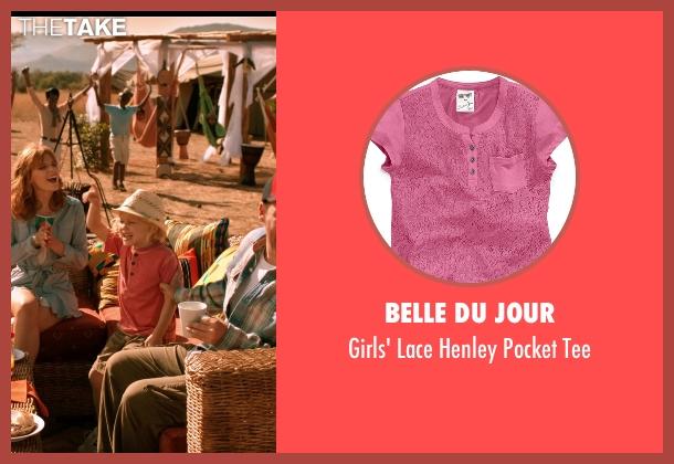Belle Du Jour pink tee from Blended seen with Emma Fuhrmann (Espn Friedman)